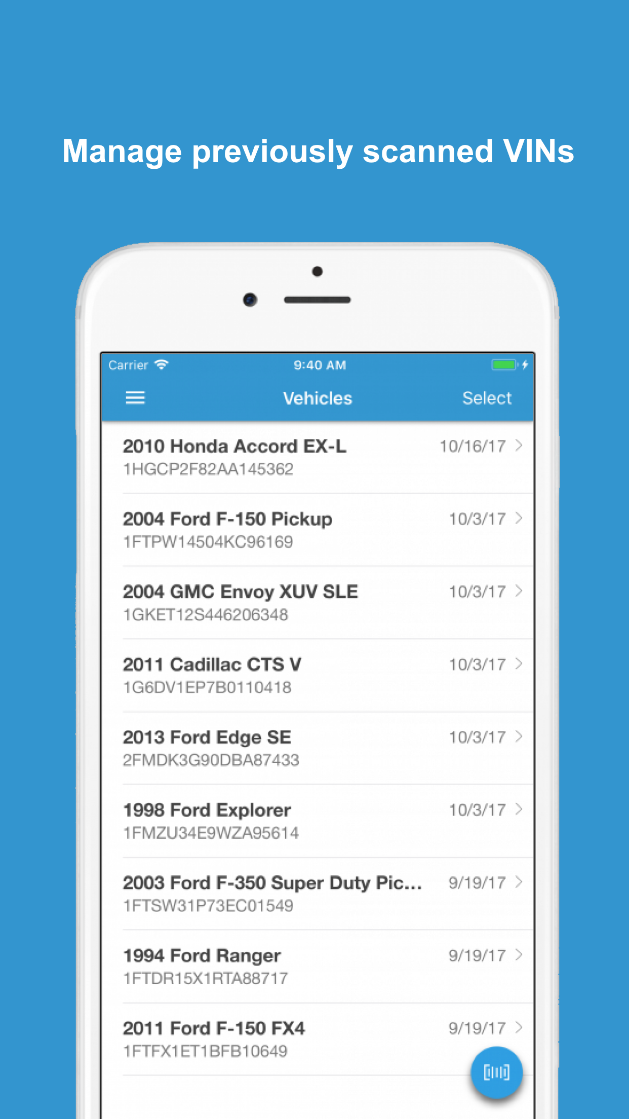 Introducing VIN Scanner for IOS and Android